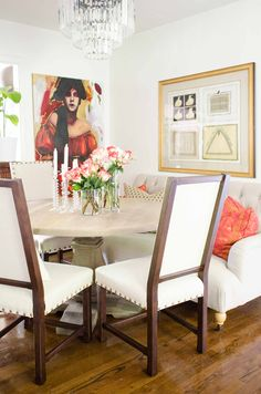 Dining room makeover with Home Decorators Collection via Thou Swell