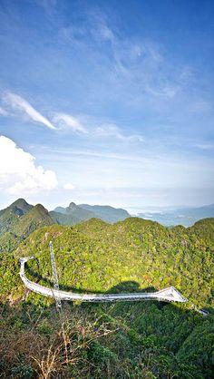Langkawi Sky Bridge - Langkawi, Malaysia Borneo, Genting Highlands, Strait Of Malacca, Sky Bridge, Next Holiday, Kuala Lumpur, Asia Travel, Continents, Amazing Places