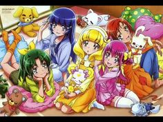 Japanese Opening Theme for Glitter Force. In Japan, Glitter Force is known as Smile Pretty Cure/Smile PreCure. Watch Glitter Force on Netflix. Glitter Force, Moe Anime, Anime Chibi, Steven Universe, Smile Pretty Cure, Harry Potter, Free Desktop Wallpaper, Wallpaper Downloads, Magical Girl
