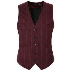 Mada Men's British Style Business Waistcoat Slim Fit Wedding Suit Vest (56 BRL) ❤ liked on Polyvore featuring men's fashion, men's clothing, men's outerwear, men's vests, mens waistcoats, mens wedding waistcoats, mens vest outerwear and mens slim fit vest