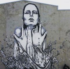 Street Art by DEOW, located in Christchurch, New Zealand