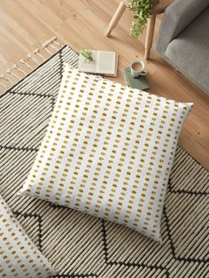 Millions of unique designs by independent artists. Find your thing. Floor Pillows, Throw Pillows, Lip Designs, Blankets, Comforters, Artists, Yellow, Bed, Unique