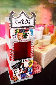 Broadway Musical themed wedding gift card box.