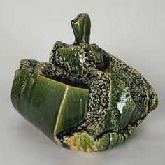 Artist: Shigemasa Higashida (Japanese: 1955) -Title:  Oribe Jar with lid, 2015