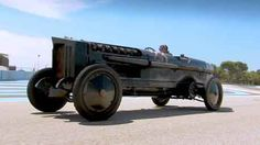 Brutus is a chain drive car with a12-cylinder aircraft engine on old NYC fire engine chassis