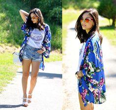 Alba . - Missguided Kimono, Choies Shorts, Alain Afflelou Eyewear - ...Tropicool! by MissGuided...