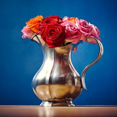 Cosi Tabellini Siracusa Flower Vase - Pewter