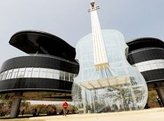 Huainan City, China. The Piano House designed by Heftel University of Technology (or is it photoshop?)