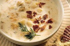 Creamy Clam-Scallop Chowder recipe