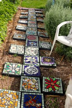 the garden junkie Mosaic garden tiles stepping stonesthe garden junkie. fill blank spaces with solid tile or low ground cover.Diy mosaic decorations to inspire your own garden 23 ⋆ Main Dekor Networkthe garden junkie. crystal stone tile Gone are the day Decorative Stepping Stones, Mosaic Stepping Stones, Pebble Mosaic, Stone Mosaic, Mosaic Glass, Mosaic Walkway, Mosaic Rocks, Paver Stones, Stone Tiles