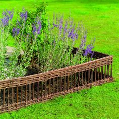 Willow Classic Hurdle Edging) Created from natural willow, this good looking hurdle is long. Comes with willow posts allowing you simply to push it into soft ground. Edging eliminates the need for constant lawn edge trimmi Path Edging, Garden Edging, Garden Borders, Lawn And Garden, Flower Borders, Cedar Garden, Herb Garden, Willow Garden, European Garden