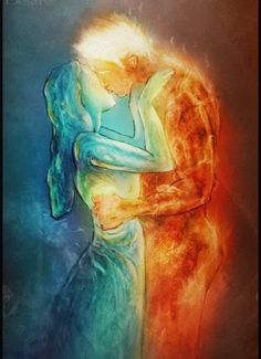Forbidden love of ~ JRul on deviantART - Maria Rhodes - Games Tattoo, Art Amour, Twin Flame Love, Twin Flames, Flame Art, Creation Art, Forbidden Love, Fire And Ice, Yin Yang