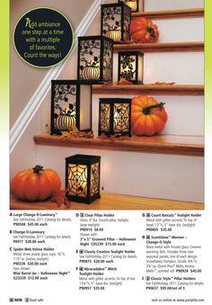 PartyLite Halloween Decorations. Order online 24/7 at www.PartyLite.biz/NikkiHendrix
