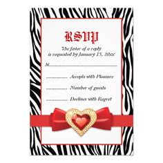 DealsBlack white zebra print & red jewel wedding RSVP Custom AnnouncementYes I can say you are on right site we just collected best shopping store that have