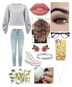 """Delicate like a flower, dangerous like a beast"" by sebastian-barnes ❤ liked on Polyvore featuring Miss Selfridge, River Island, Converse, Lime Crime, EyeBuyDirect.com, Casetify, Dolce&Gabbana, Tiffany & Co. and Disney"