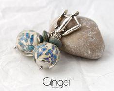 Beige earrings for women, lampwork beads earrings, Handmade Jewelry, Lampwork Beads SRA Women's Earrings, Earrings Handmade, Handmade Jewelry, Handmade Items, Venetian Glass, Lampwork Beads, Little Gifts, Glass Beads