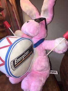 "Large 20"" Energizer Bunny Plush w/ Drum & Sunglasses 1995 #EnergizerBattery"