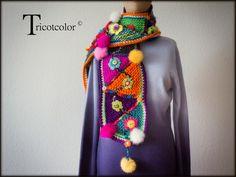 Tricotcolor: December 2013 Crochet Shawl Diagram, Form Crochet, Crochet Patterns, Triangles, Crochet Neck Warmer, Viking Tattoo Design, Sunflower Tattoo Design, Scarf Hat, Knitted Shawls