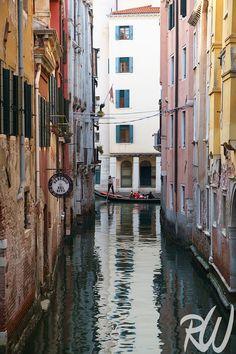 Gondola Ride in Small Canal in San Marco, Venice, Italy  Blog Post: http://www.rwongphoto.com/blog/servizio-gondole/  #veniceitaly #italy
