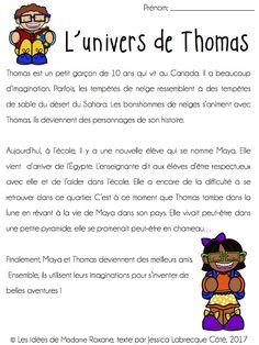 Les idées de Mme Roxane!: Compréhension de texte