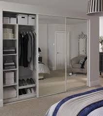 The use of sliding wardrobe doors with mirrors will enhance the overall look of the interior. This at the same time is also p