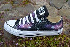 Snowflake Galaxy Low Tops Frozen Shoes Galaxy Converse