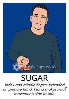 Today's #BritishSignLanguage sign is: SUGAR #candyflossday