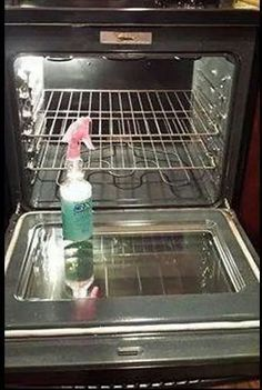 Oven cleaner using Dawn, Lemon juice,White Vinegar....awesome!!