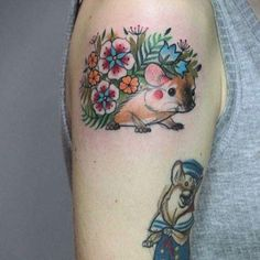 #hedgehog #tattoo as the spring is not in the air yet... #caffeinetattoo