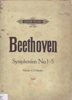 BEETHOVEN. Symphonien No. 1-5, Klavier zu 2 Händen. Edition Peters.