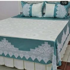 Crochet Bedspread, Crochet Tablecloth, Diy Crafts Crochet, Easy Diy Crafts, Hand Embroidery Stitches, Crewel Embroidery, Daybed Cover Sets, Filet Crochet, Baby Knitting Patterns