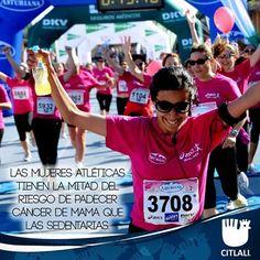 #Octubre #mesdelcáncerdemama Factores de riesgo: Las mujeres atléticas tienen la mitad del riesgo de padecer cáncer de mama que las sedentarias.