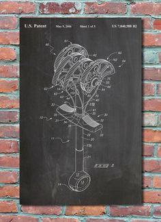 Rock Climbing Cam Wall Art Print Patent Art Patent Poster