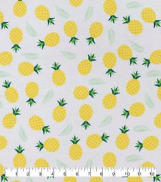 Aqua Oasis ISLE Tropical Pineapple Fruit Fabric Turquoise