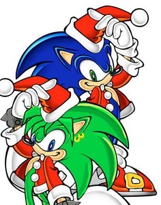 Sonic and Manic Christmas - sonic-the-hedgehog