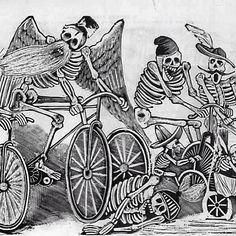 ¡Día de los muertos bicicletas!