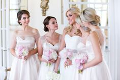 Bridesmaids in Classic White Dresses | photography by http://oneandonlyparisphotography.com
