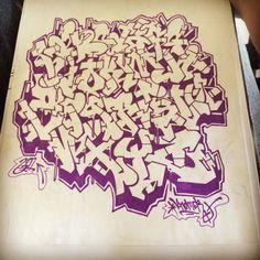 2011 I forgot to post this by knomer on DeviantArt Graffiti Text, Graffiti Lettering Fonts, Graffiti Writing, Cool Lettering, Lettering Styles, Street Art Graffiti, Grafitti Alphabet, Graffiti Alphabet Styles, Graffiti Designs