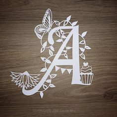 Initial Handmade Papercut unframed by LouiseBellArt on Etsy
