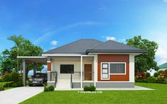 Miranda is an elevated 3 bedroom with 2 bathroom modern house with a total floor area of 162 square meters. The minimum lot area is 300 square meters with at least 15 meters in width to accommodate th Simple House Plans, Simple House Design, Modern House Plans, Modern House Design, Modern Bungalow House, Bungalow House Plans, Philippines House Design, Two Story House Design, Three Bedroom House Plan