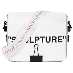 "Off White Women ""sculpture"" Printed Leather Shoulder Bag (15.748.000 IDR) ❤ liked on Polyvore featuring bags, handbags, shoulder bags, white, real leather purses, white handbag, genuine leather purse, genuine leather handbags and shoulder hand bags"