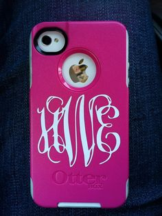 iphone monogram decal 2 by SimplySouthernDecals on Etsy, $4.00