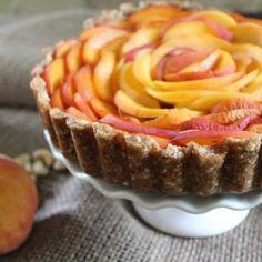 Raw Peach Tart
