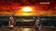 """""""Septemberwetter warm und klar, verheißt ein gutes neues Jahr."""" #kalender #september #kalenderblätter #regenbogenelch sheep-black.com - Highlights"""