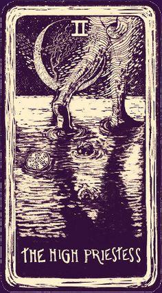 The High Priestess - Light Visions Tarot La Danse Macabre, Major Arcana Cards, Renz, Free Tarot, Angel Cards, Oracle Cards, Card Reading, Tarot Decks, Tarot Cards