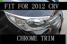 55.00$  Buy here - http://alirik.shopchina.info/go.php?t=1933012970 - Chrome Front head light cover trim trims fit for 2012 2013 2014 honda CRV CR-V 55.00$ #buymethat