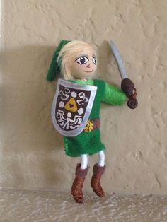 Toon Link Mini  posable figure Nintendo by BunniesMadeOfBread, $13.50