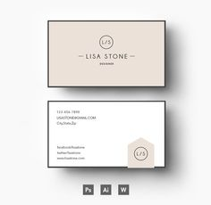 Modern business card template by emilys art boutique on creative business card template business card templates on creative market accmission Gallery