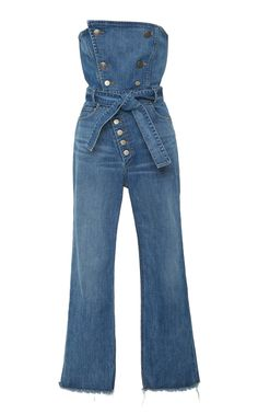 Marissa Webb Marselle Strapless Denim Jumpsuit In Blue Dress Outfits, Casual Outfits, Fashion Dresses, Cute Outfits, Denim Jumpsuit, Jumpsuit Outfit, Dungarees, Denim Fashion, Womens Fashion