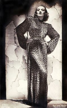 Marlene Dietrich was a star who experimented with style. From all over print to tuxedos, she was a style maverick.